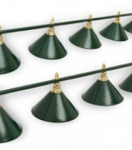 Светильники на девять плафонов для бильярда